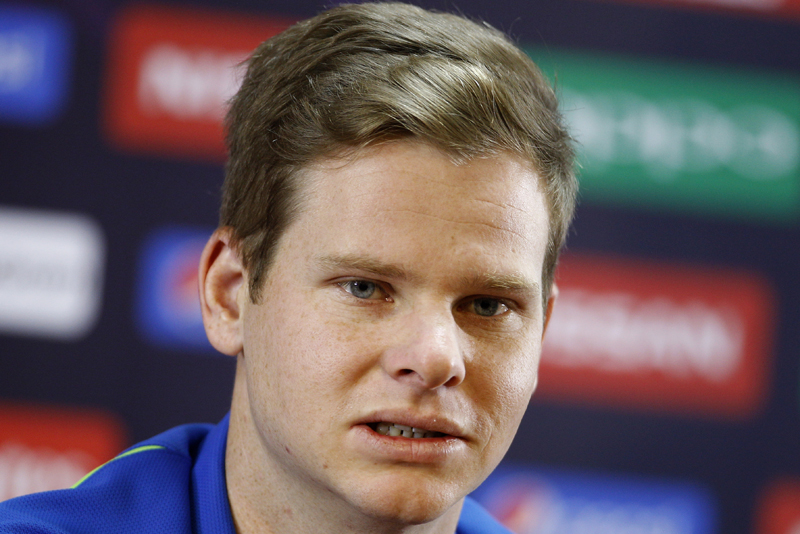 Australia's captain Steven Smith speaks at a press conference ahead of their ICC World Twenty20 2016 match against Bangladesh in Bangalore, India, Sunday, March 20, 2016. Photo: AP