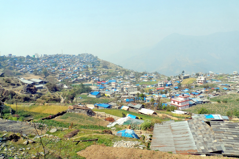 Barpak, epicentre of last year's devastating earthquake, is seen now reconstructed largely with expenses of locals themselves, as pictured on Friday, April 22, 2016. Photo: RSS