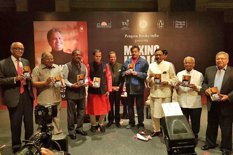 u2018Making it Bigu2019, English translation of memoir by Binod Chaudhary, being launched amid a ceremony in New Delhi on Wednesday, April 27, 2016. Photo Courtesy: Nepa~laya