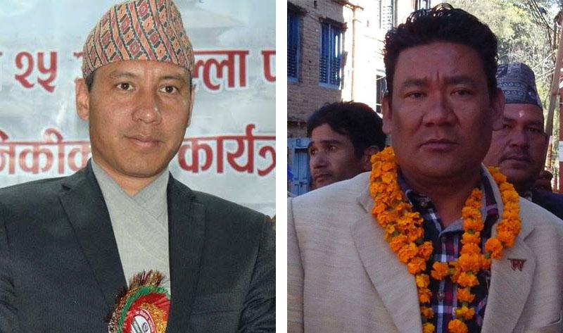 Biraj Bista (left) and  Resham Lama. Photos: Facebook