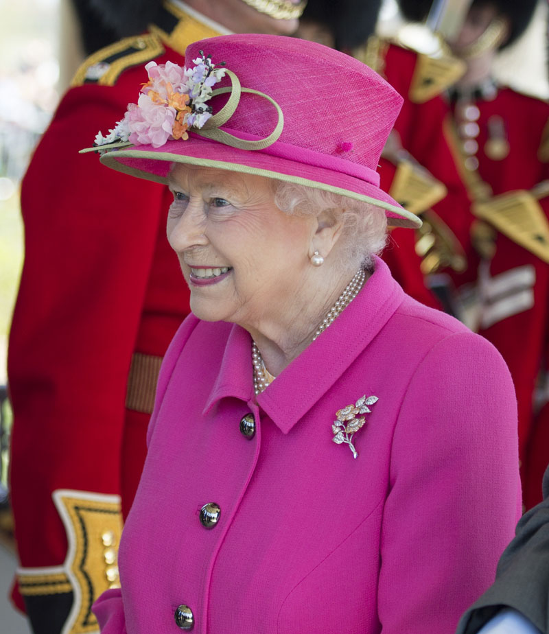 Britain's Queen Elizabeth II  officially opens the new Bandstand at Alexandra Gardens, a day ahead of her 90th birthday, in Windsor, England, on Wednesday, April 20, 2016. Photo: Arthur Edwards/Pool Photo via AP