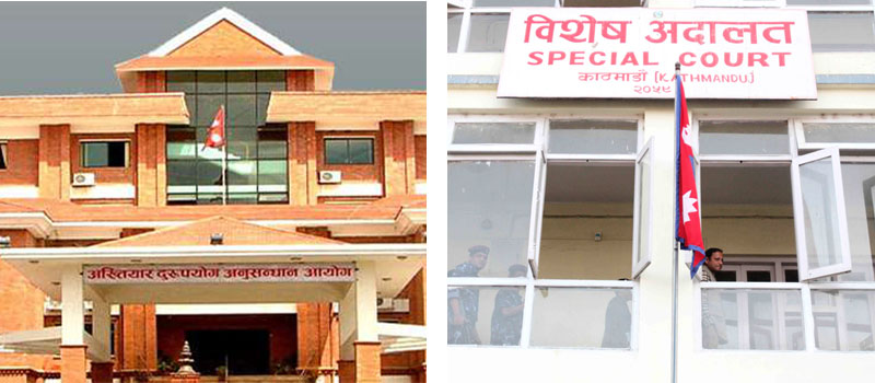 Commission for the Investigation of Abuse of Authority (CIAA) building (left) and Special Court building. Photo: THT file