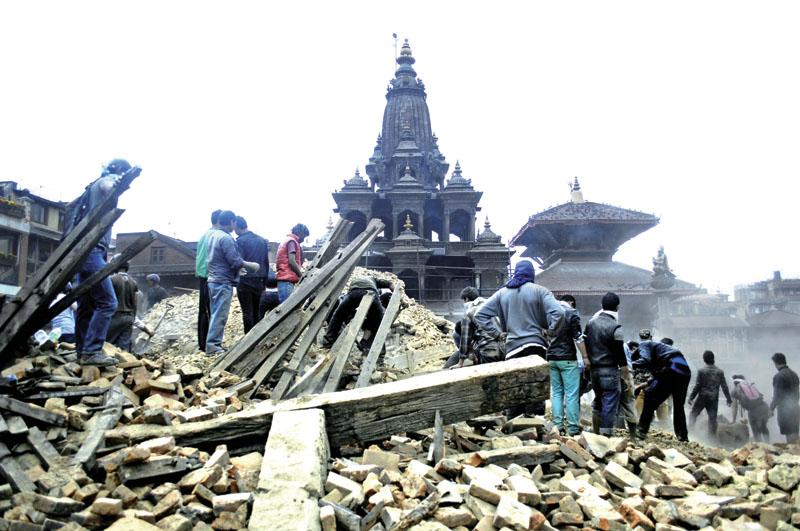 Damages made by quake