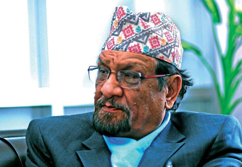 Former Finance Minister ram Sharan Mahat. Photo: THT