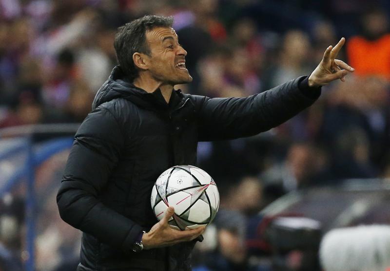 Barcelona coach Luis Enrique. Photo: Reuters