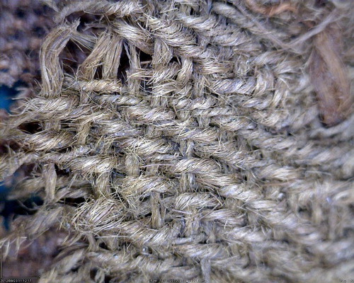 Close-up of the twill weave from Sample 46. Image: Margarita Gleba