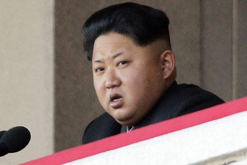 FILE - North Korean leader Kim Jong Un delivers remarks at a military parade in Pyongyang, North Korea, on October 10, 2015. Photo: Wong Maye-E/AP