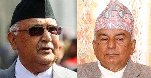 The combo shows Prime Minister KP Sharma Oli (left) and Nepali Congress senior leader Ram Chandra Paudel. Photo: THT/RSS