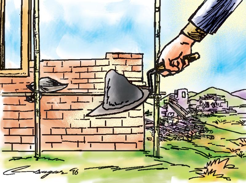 Reconstruction. Illustration: Ratna SagarShrestha/THT