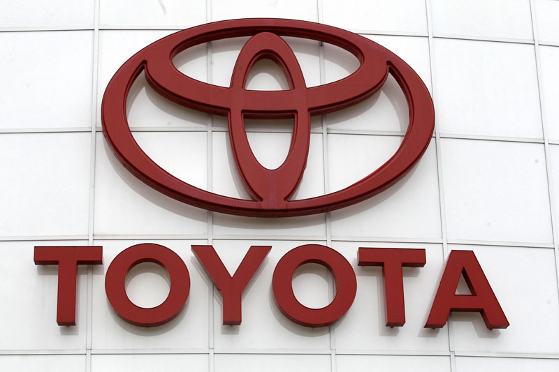 FILE - The Toyota logo is shown at Wilsonville Toyota, in Wilsonville, Oregon, on March 30, 2011. Photo: AP