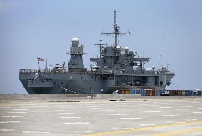 U.S. 7th Fleet flagship USS Blue Ridge is seen at Colombo port in Sri Lanka March 30, 2016. REUTERS/Dinuka Liyanawatte/Files