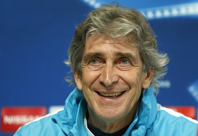 Manchester City manager Manuel Pellegrini during the press conferencen in City Academy on Monday, April 11, 2016. Photo: Reuters