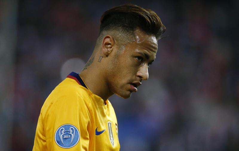 Barcelona's Neymarn during UEFA Champions League quarter finals second leg against Atletico  Madrid at Vicente Calderon Stadium on April 17, 2016. Photo: Reuters