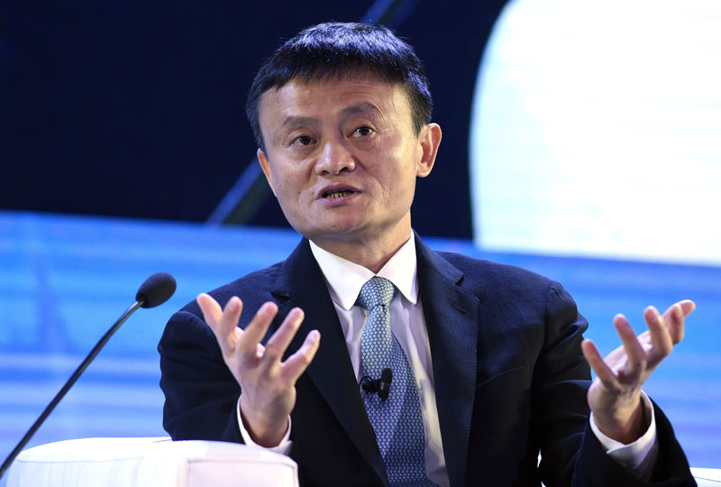FILE - Alibaba founder Jack Ma speaks at the CEO Summit, attended by 800 business leaders from around the region representing US and Asia-Pacific companies, in Manila, Philippines, ahead of the start of the Asia-Pacific Economic Cooperation summit, on November 18, 2015. Photo: Susan Walsh/AP