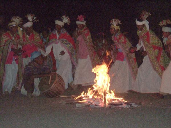 Baiga people of Bandhatola dancing. Photo: baiga.org