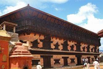 Pachpanna Jhyale Darbar in Bhaktapur. Photo: Department of Archaelogy
