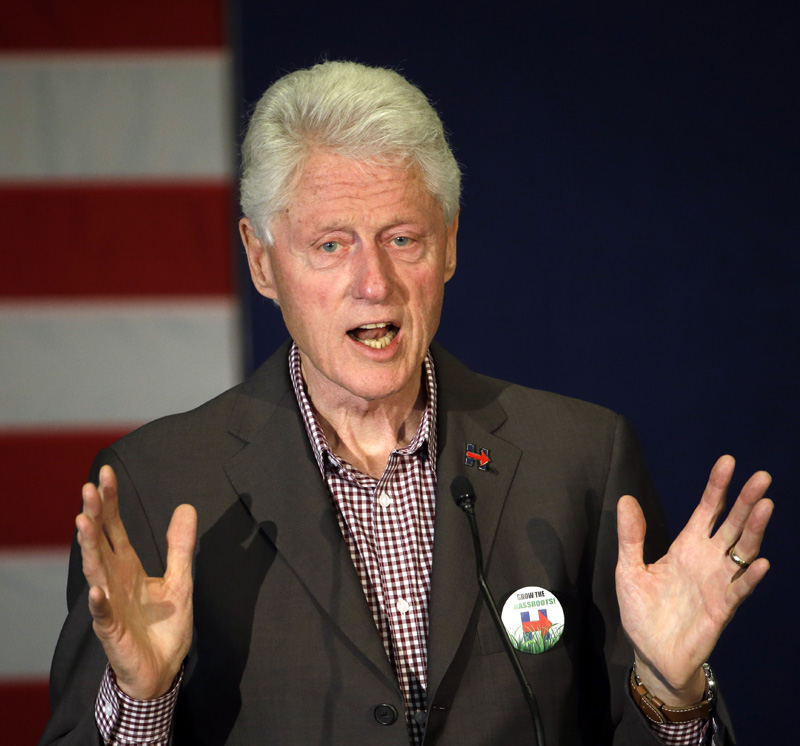 FILE - In this Thursday, May 5, 2016 file photo, former President Bill Clinton speaks in Portland, Ore., while campaigning for his wife, Democratic presidential candidate Hillary Clinton. Photo: AP