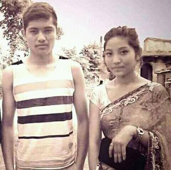 This undated file photo of Bimal Gharti Magar and his sister Manisha was received from one of their kin.