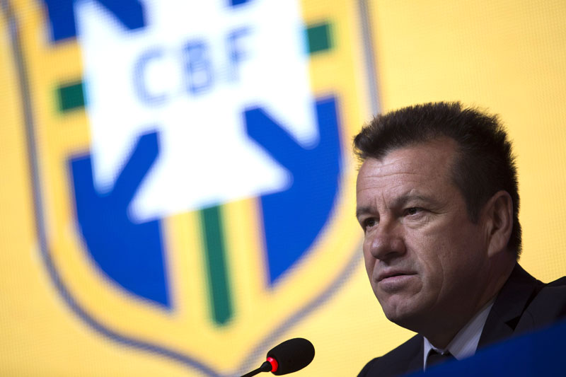 Brazil's football coach Dunga speaks during a news conference where he announced which of his players will play the Copa America Centenario, in Rio de Janeiro, Brazil, on Thursday, May 5, 2016. Photo: AP