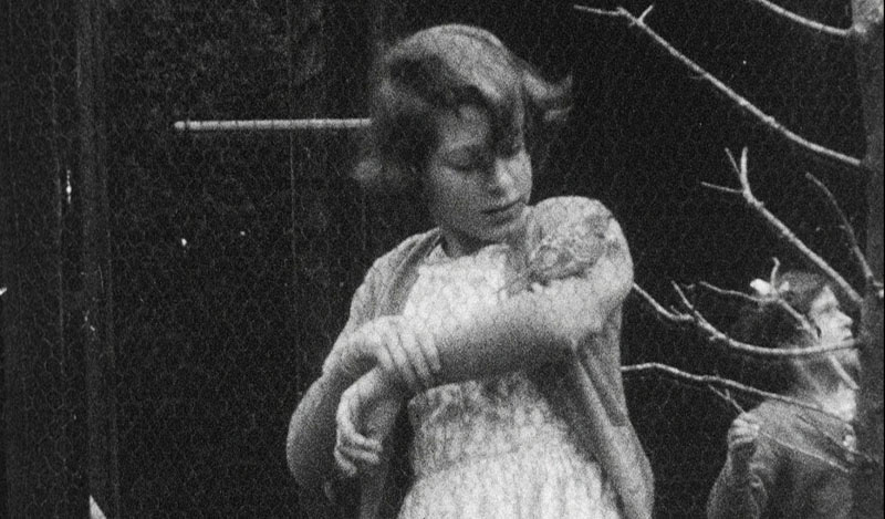 The then Princess Elizabeth with a bird on her arm, in Britain, undated. Rare footage of Britain's Queen Elizabeth has been shared to celebrate her 90th birthday. Photo: HM The Queen via AP