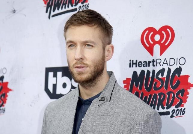 DJ Calvin Harris poses at the 2016 iHeartRadio Music Awards in Inglewood, California, April 3, 2016. REUTERS/Danny Moloshok/Files