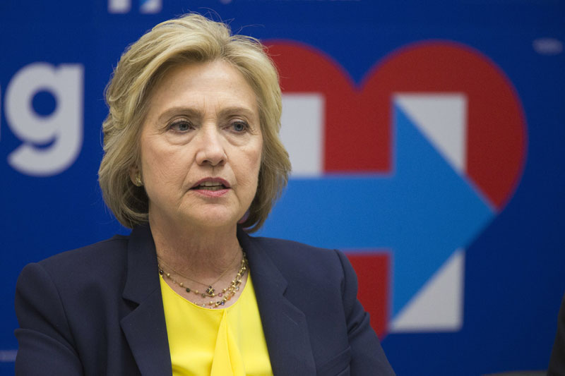 FILE - Democratic presidential candidate Hillary Clinton speaks in New York, on May 12, 2016. Photo: Mary Altaffer/AP