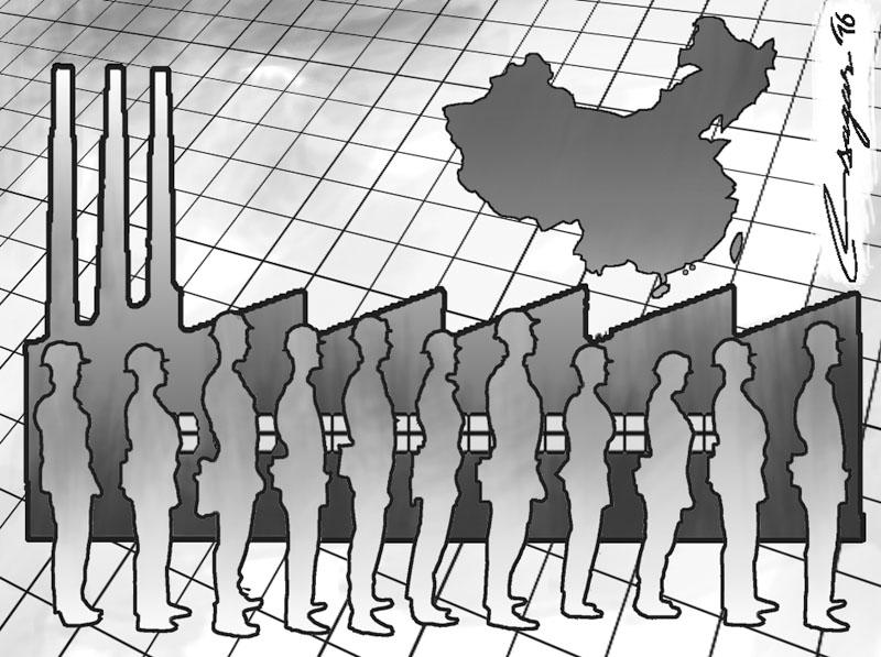 Chinese economy. Illusrtration: Ratna Sagar Shrestha/THT