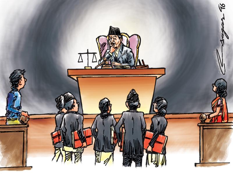 Court. Illustration: Ratna Sagar Shrestha/THT