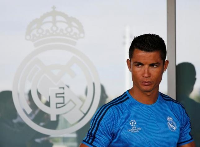 Football Soccer - Real Madrid Preview - Valdebebas, Madrid, Spain - 24/5/16. Real Madrid's Cristiano Ronaldo stands in front of reporters after a training session. REUTERS/Andrea Comas