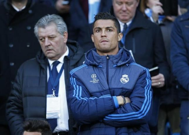 Football Soccer - Manchester City v Real Madrid - UEFA Champions League Semi Final First Leg - Etihad Stadium, Manchester, England - 26/4/16nReal Madrid's Cristiano Ronaldo in the stands before the matchnAction Images via Reuters / Carl Recine/ Livepic