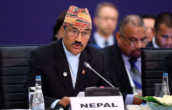 Deputy Prime Minister and Minister for Foreign Affairs Kamal Thapa co-chairs the u0091High-Level Leadersu0092 Roundtable on Natural Disaster and Climate Change: Managing Risks and Crises Differentlyu0092 in Istanbul of Turkey, on Tuesday, May 24, 2016. Photo: https://twitter.com/KTnepal