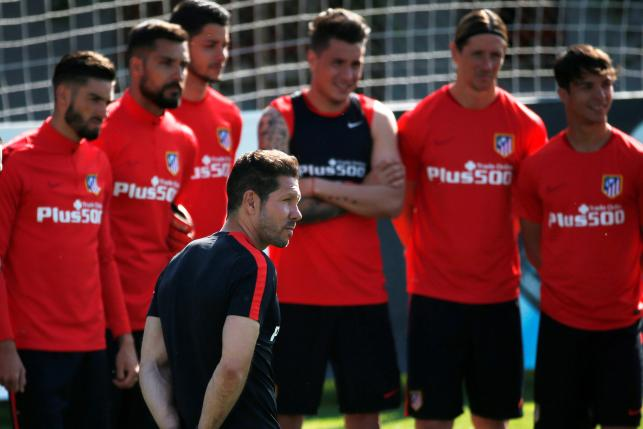 Football Soccer - Atletico Madrid training - Majadahonda, Spain -21/5/16- Atletico Madrid's coach Diego Simeone attends a training session in Majadahonda. REUTERS/Juan Medina