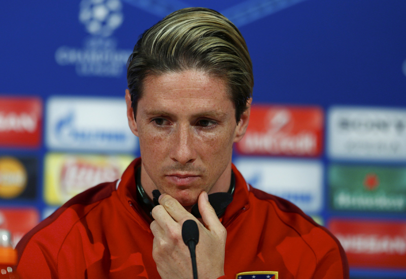Atletico Madrid's striker Fernando Torres during news conference prior to UEFA Champions League semi-final return match against Bayern Munich in Allianz Arena on Monday, May 2, 2016. Photo: Reuters