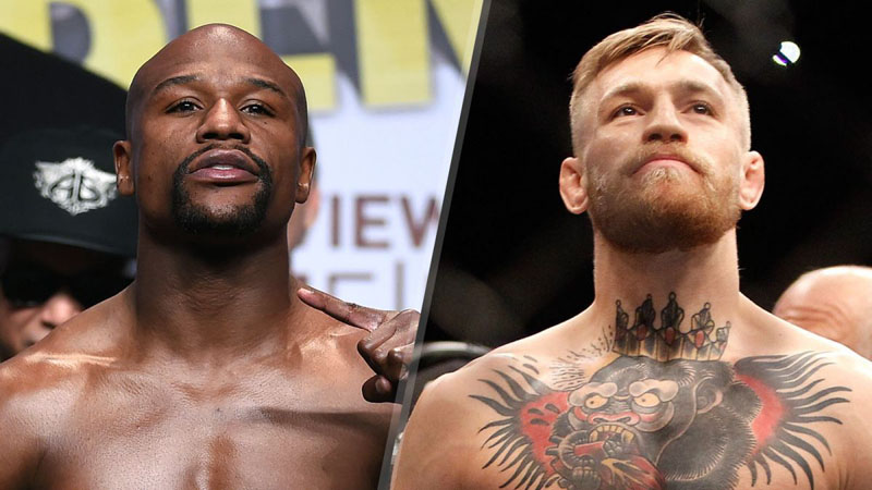 Floyd Mayweather(left) and Conor McGregor. Photo: Reuters