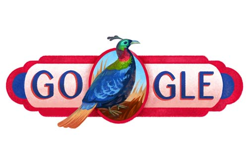 Google's doodle for Nepal's Republic Day 2016. Source: Google