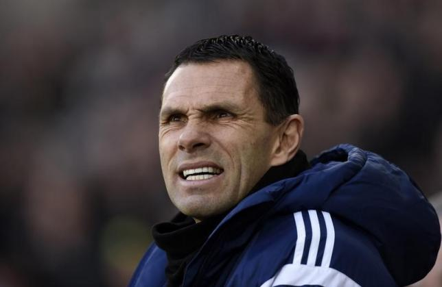Sunderland's manager Gus Poyet during their English Premier League soccer match at the Liberty Stadium in Swansea, Wales, February 7, 2015. REUTERS/Rebecca Naden