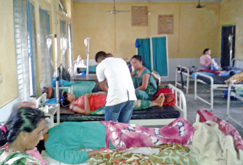 Women undergoing treatment after  unsafe abortion, at Seti Zonal Hospital, in Dhangadi, on Monday, May 16, 2016. Photo: THT