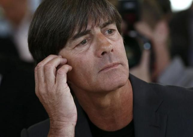 German national soccer team coach Joachim Loew arrives for a news conference to announce the German squad for Euro 2016, in Berlin, Germany, May 17, 2016. REUTERS/Hannibal Hanschke/Files