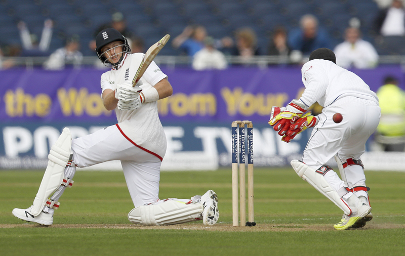 England's Joe Root in action against Sri Lanka during Second Test Match at Emirates Durham ICG on Friday, May 27, 2016. Photo: Reuters