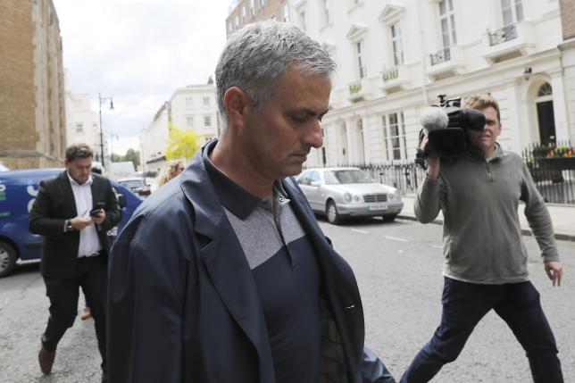 Former Chelsea manager Jose Mourinho walks to his house in London, Britain May 23, 2016. REUTERS/Stefan Wermuth