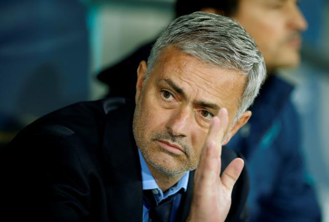 Chelsea manager Jose Mourinho before a UEFA Champions League between Maccabi Tel Aviv and Chelsea in Haifa, Israel, November 24, 2015. REUTERS/John Sibley/File Photo