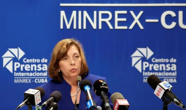 Josefina Vidal, director of U.S. affairs at the Cuban foreign ministry, addresses the media during a conference in Havana May 16, 2016. REUTERS/Enrique de la Osa