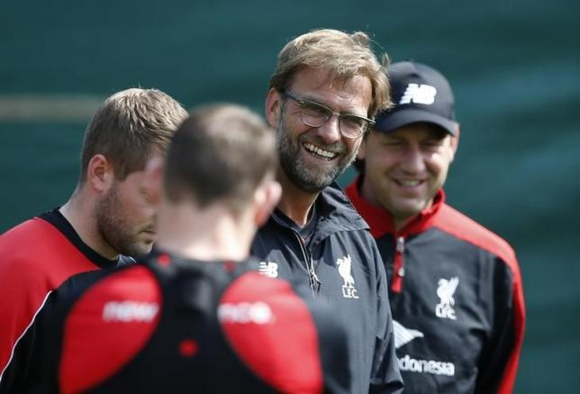 Britain Football Soccer - Liverpool - UEFA Europa League Final media day - Liverpool Training Ground - 13/5/16nLiverpool manager Juergen Klopp during trainingnAction Images via Reuters / Andrew Yates/ Livepic