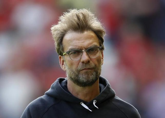 Britain Soccer Football - Liverpool v Watford - Barclays Premier League - Anfield - 8/5/16nLiverpool manager Juergen Klopp before the matchnAction Images via Reuters / Carl Recine/ Livepic