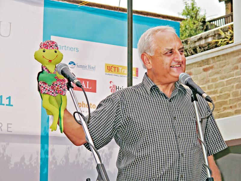 Senior journalist Kanak Mani Dixit.
