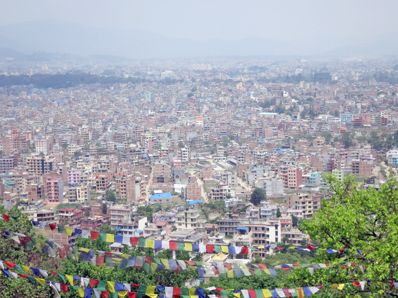 A magnificent view of Kathmandu as captured from Swayambhu on Monday, May 9, 2016. Photo: RSS