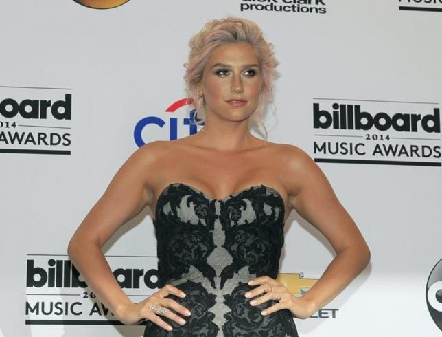 Kesha poses backstage at the 2014 Billboard Music Awards in Las Vegas, Nevada May 18, 2014.   REUTERS/L.E. Baskow