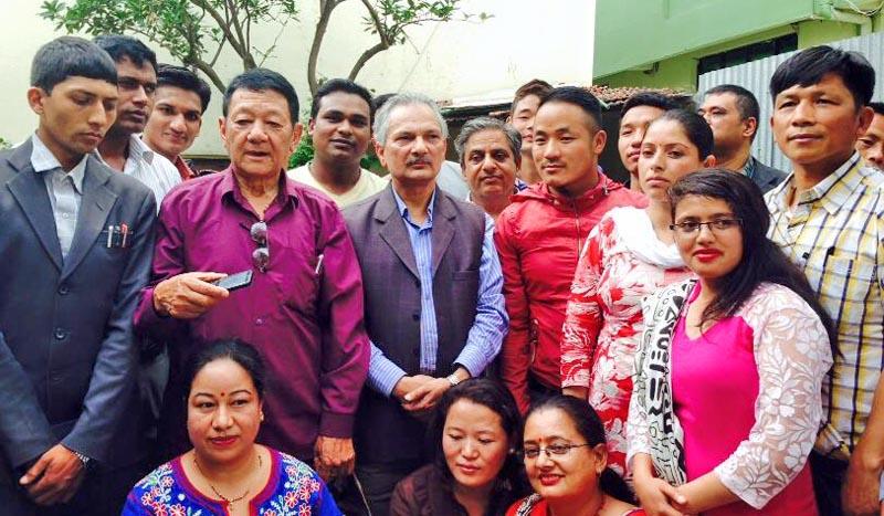 Mahesh Karmocha joins Baburam Bhattarai-led Naya Shakti Nepal. Photo: Facebook/ Baburam Bhattarai
