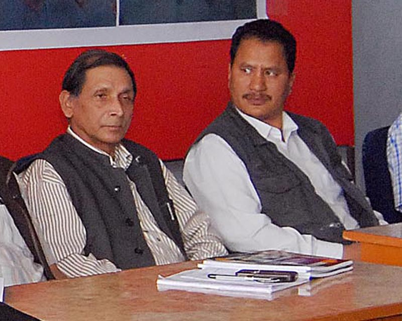 Maoist leaders Mohan Baidya and Netra Bikram Chand. THT file photo.