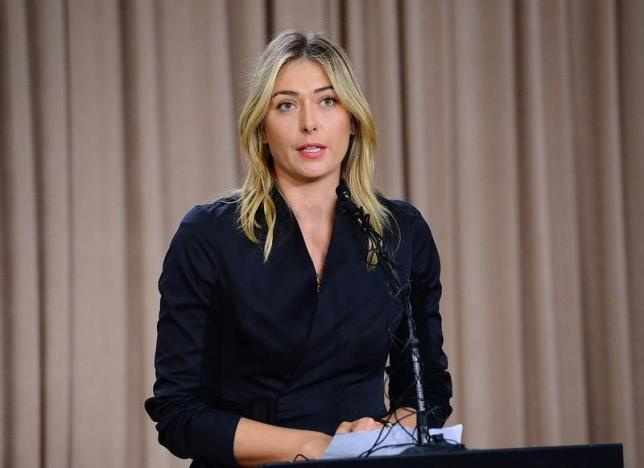 Mar 7, 2016; Los Angeles, CA, USA; Maria Sharapova speaks to the media announcing a failed drug test after the Australian Open during a press conference today at The LA Hotel Downtown. Jayne Kamin-Oncea-USA TODAY Sports/Files